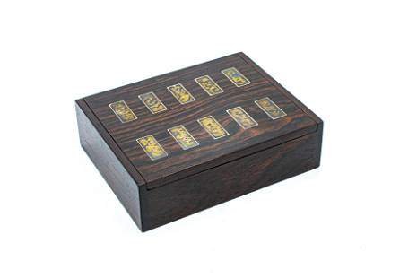 Hans Hansen Rose Wood Box with Silver Bars