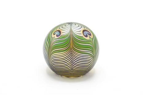 Orient Flume Peacock Pattern Paperweight