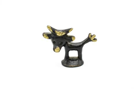 Hagenauer patinated brass cow figurine by Walter Bosse