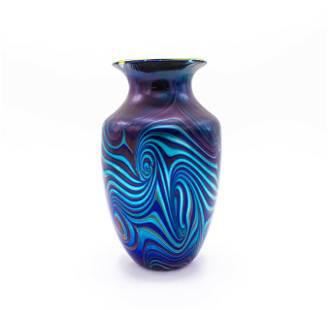 Orient & Flume Glass Blue Tut Vase from Chico