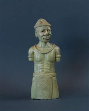 African Zulu Warrior Figurine