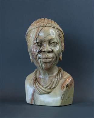 African Xhosa Healer bust
