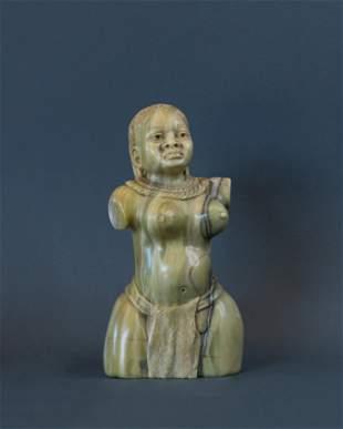 African Zulu Maiden Figurine