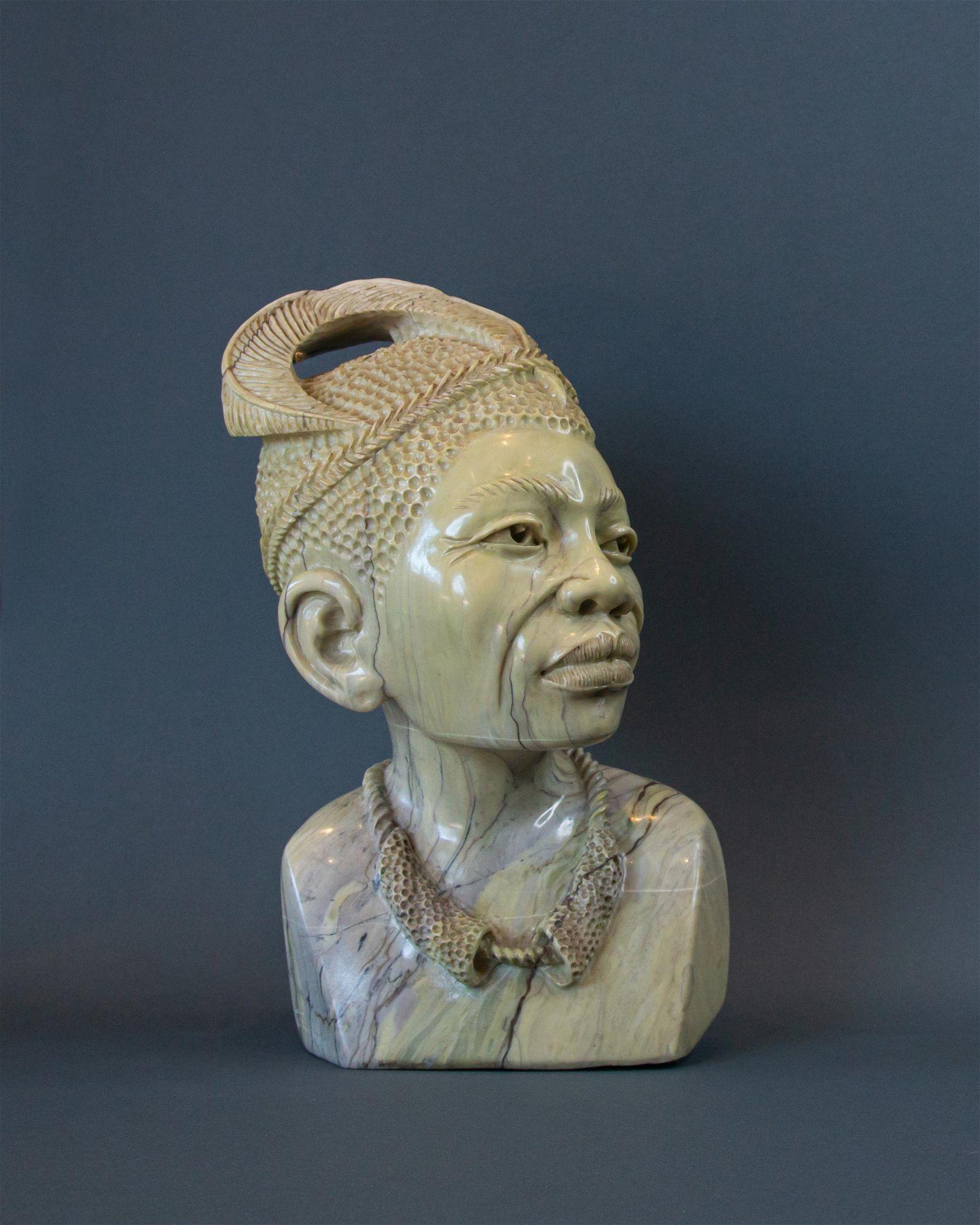 African Zulu Warrior bust