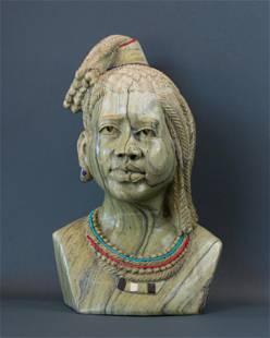 African Traditional Zulu Maiden bust