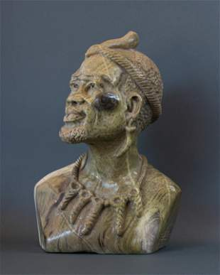 African Zulu Witch Doctor or Sangoma bust