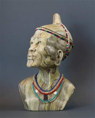 African Zulu Traditional Witch Doctor or Sangoma with
