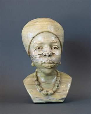 African Zulu Traditional Gogo(Grandmother) bust