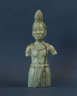 African Figurine of Traditional Zulu Witch Doctor or