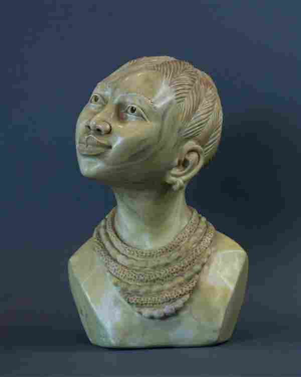 Portrait of a African Xhosa Women bust