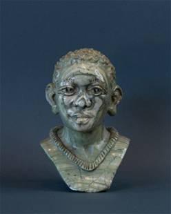 African Bushmen/San Man bust