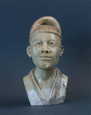African Traditional Zulu Man bust
