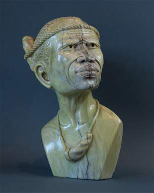 African Traditional Xhosa Witch Doctor bust