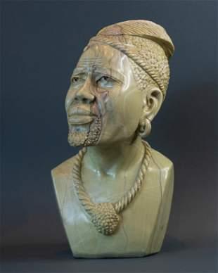 Zulu Warrior bust