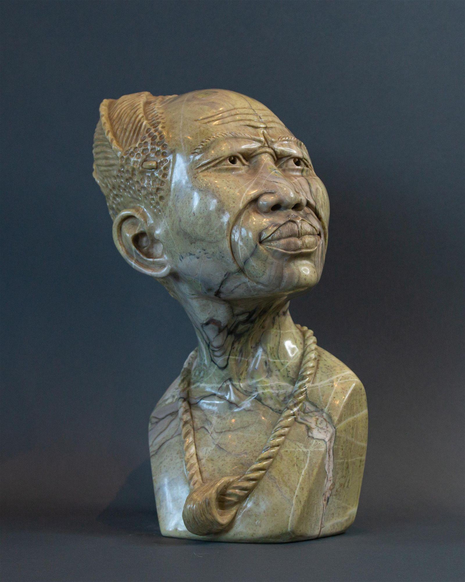 Wize Old Zulu Man bust