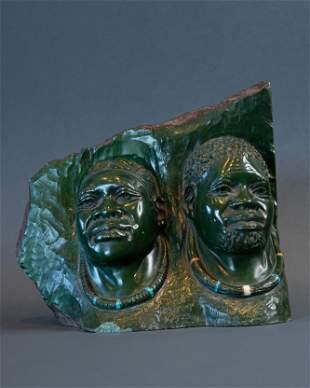 Married Zulu Couple bust