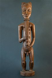 BAULE FIGURE, MALE, STATUE (pair with number 110)