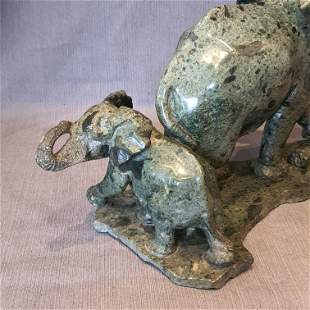 Opal Elephant Mother & Baby