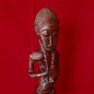 BAULE FIGURE, MALE, STATUE (pair with number 392)