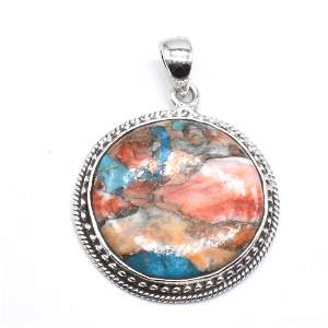 Silver Oster Muhave Turquoise Pendant