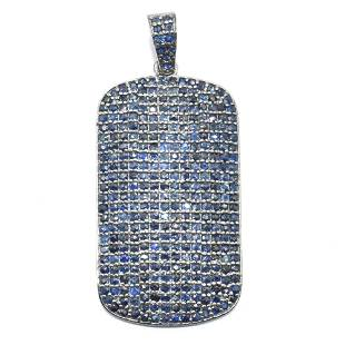 Silver Blue Sapphire Pendant