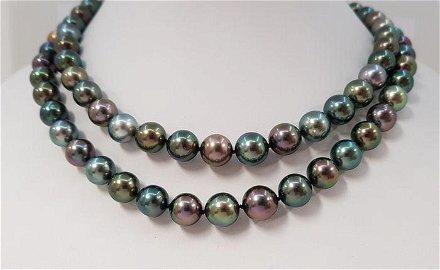 9x12mm Shimmering Multi Tahitian Pearls - 14 kt. Yellow