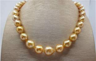 10x14.5mm 24K Golden Saturation South Sea Pearls - 925