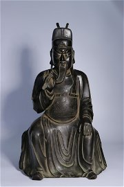 Bronze Statue of Guan Gong in Ming Dynasty