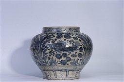 Yuan Dynasty Yuxi Kiln Blue and White Jar