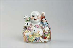 Colorful play Buddha porcelain ornaments
