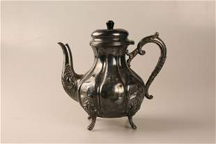 European and American silver coffee pots
