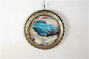 Character round 3D car decorative pendants
