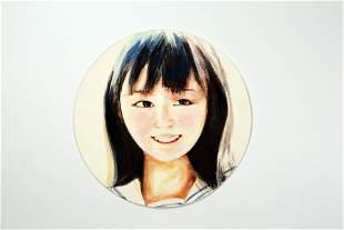 Watercolor Lady Portrait Portrait 002