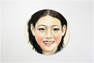 Watercolor Lady Portrait Portrait 008