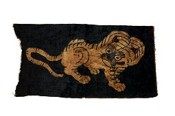 Qing Dynasty Tiger Decorative Tapestry