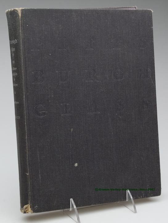 """5: BLOWN AND PRESSED GLASS REFERENCE BOOK, """"Pittsburgh"""