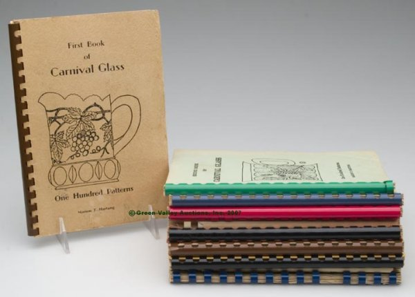 """8: CARNIVAL GLASS REFERENCE BOOKS, SET OF TEN, """"The Fir"""