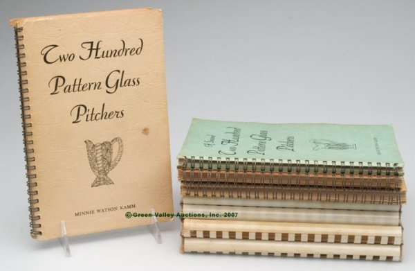 10: EARLY AMERICAN PRESSED GLASS REFERENCE BOOKS, SET O