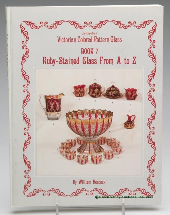 """12: EARLY AMERICAN PRESSED GLASS REFERENCE VOLUME, """"Enc"""