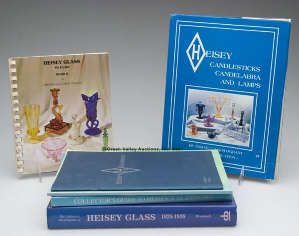 """15: HEISEY GLASS REFERENCE BOOKS, LOT OF SIX, """"Collecto"""