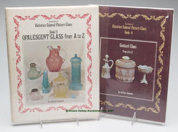 """18: VICTORIAN GLASS REFERENCE BOOKS, LOT OF TWO, """"Encyc"""