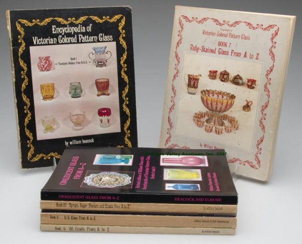 """19: VICTORIAN GLASS REFERENCE BOOKS, LOT OF SEVEN, """"Enc"""