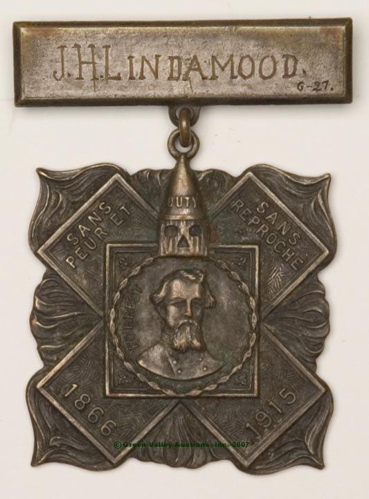 5: 1915 KKK HERO CROSS BADGE, silver-patinated brass, F