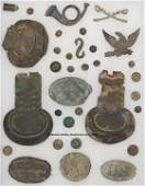269: FLAT OF BATTLEFIELD EXCAVATED ARTIFACTS, including