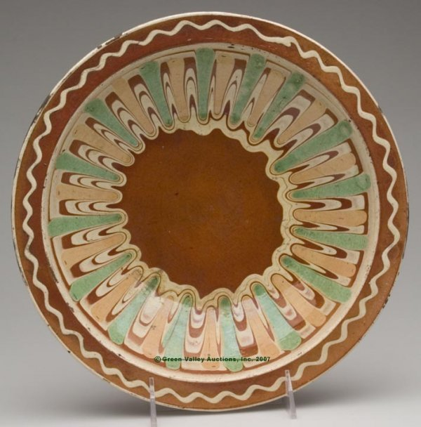 1001: OUTSTANDING HAGERSTOWN, MD POLYCHROME-SLIP DECORA