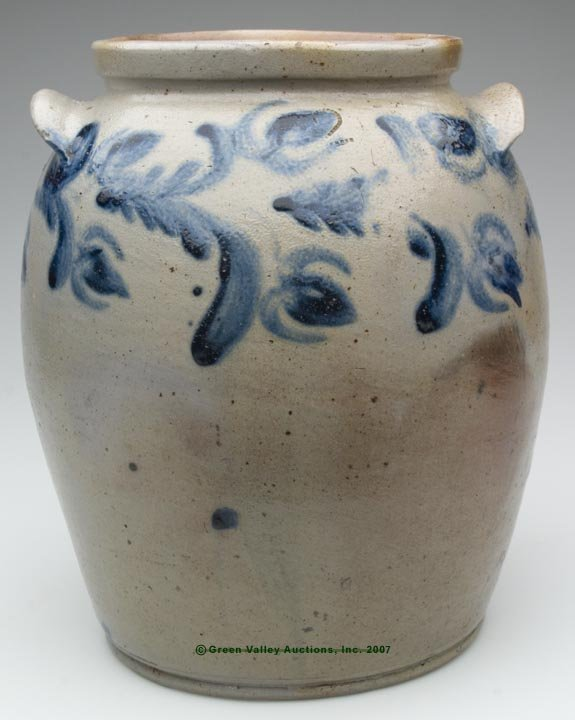 1020: BALTIMORE, MD DECORATED SALT-GLAZED STONEWARE JAR