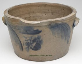 MID-ATLANTIC DECORATED SALT-GLAZED STONEWARE DEEP