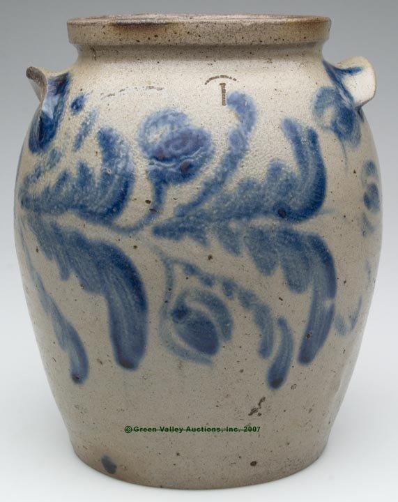 1042: BALTIMORE, MD DECORATED SALT-GLAZED STONEWARE JAR