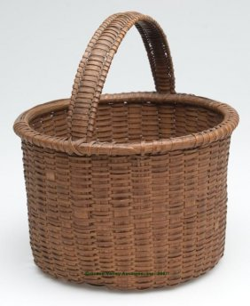 VIRGINIA WHITE OAK SPLINT BASKET, Finely Woven Ro