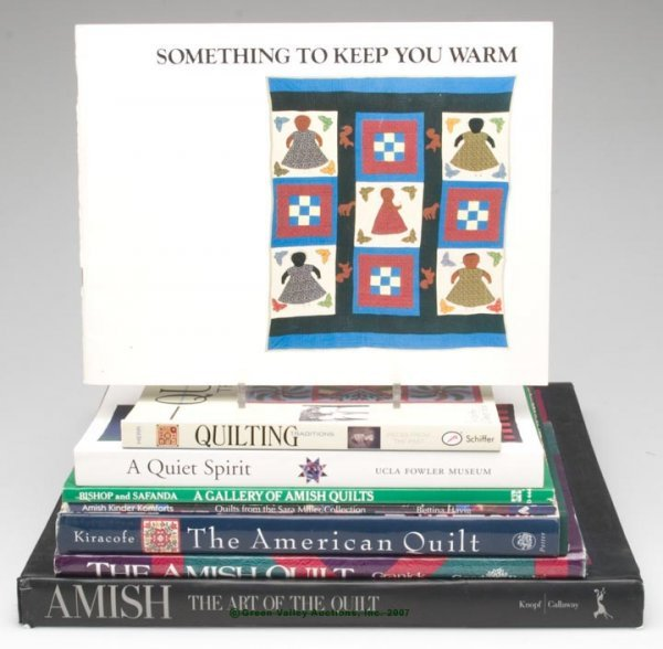 1074: QUILTS REFERENCE VOLUMES, LOT OF EIGHT, including